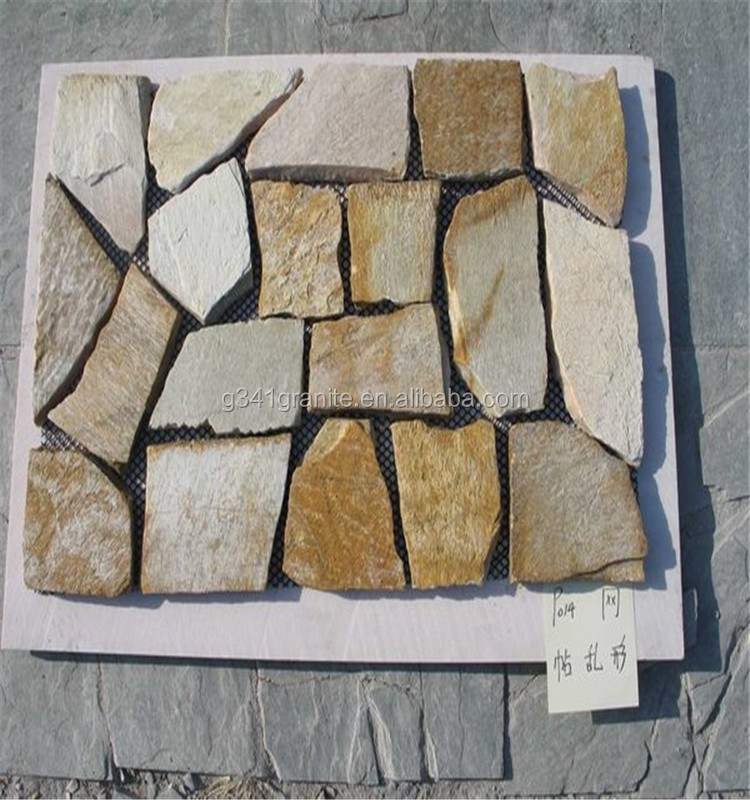 China low cost flagstone of slate culture stone for pavers