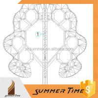 The 3D design cost of lighting door sculpture for customer