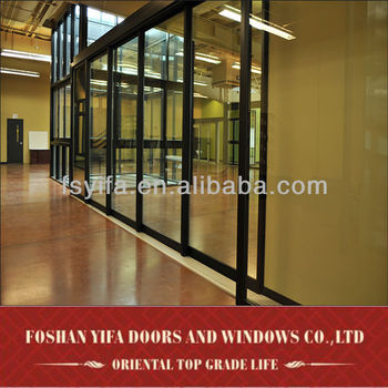 2014 aluminum profile arch mahogany double entry door
