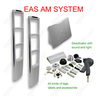 Highlight Supermarket sliver gray AM 58KHz security EAS system/EAS anti-theft system jammer/clothing store eas alarm system