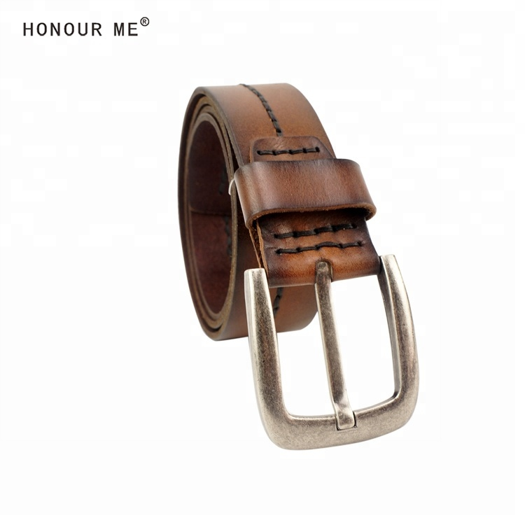 Genuine leather <strong>belt</strong>, casual jeans dark brown color <strong>belt</strong> for men