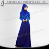 MDA033 Elegant blue muslim attire for women high quality muslim women islamic attire