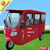 China supplier Solar electrical three wheel motorcycle for passenger