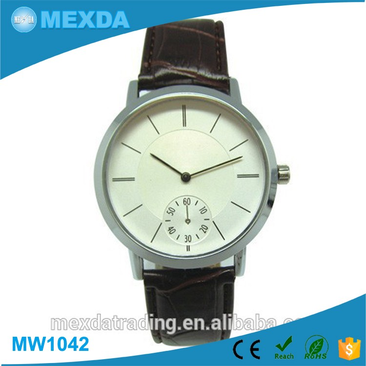 Hot selling high quality japan movement leather Quartz feature watch man