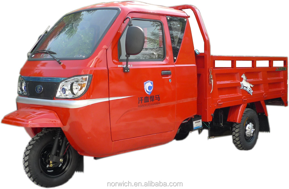New improved powerful cargo tricycle truck with dumper, for heavy loads
