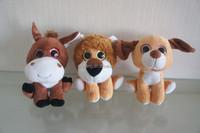 customized stuffed animal toys, soft toy donkey, lion, dog, plastic particles