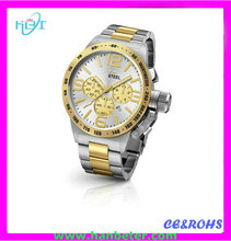 2015 alibaba high quality best mens japan movt quartz watch with three gold big dial