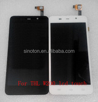 100% Original LCD Display +Digitizer Touch Screen Glass for THL W200 Black White Color