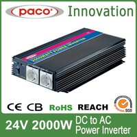 off grid 24v solar power inverter 2000w,dc to ac with CE CB ROHS certificate