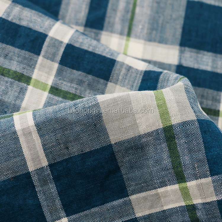 linen fabric check design for shirt