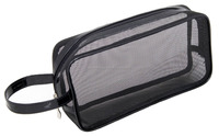 Beone's Wholesale Private Label Black Mesh Cosmetic Bag