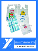 Custom logo printed cheap plastic t-shirt bags China wholesale