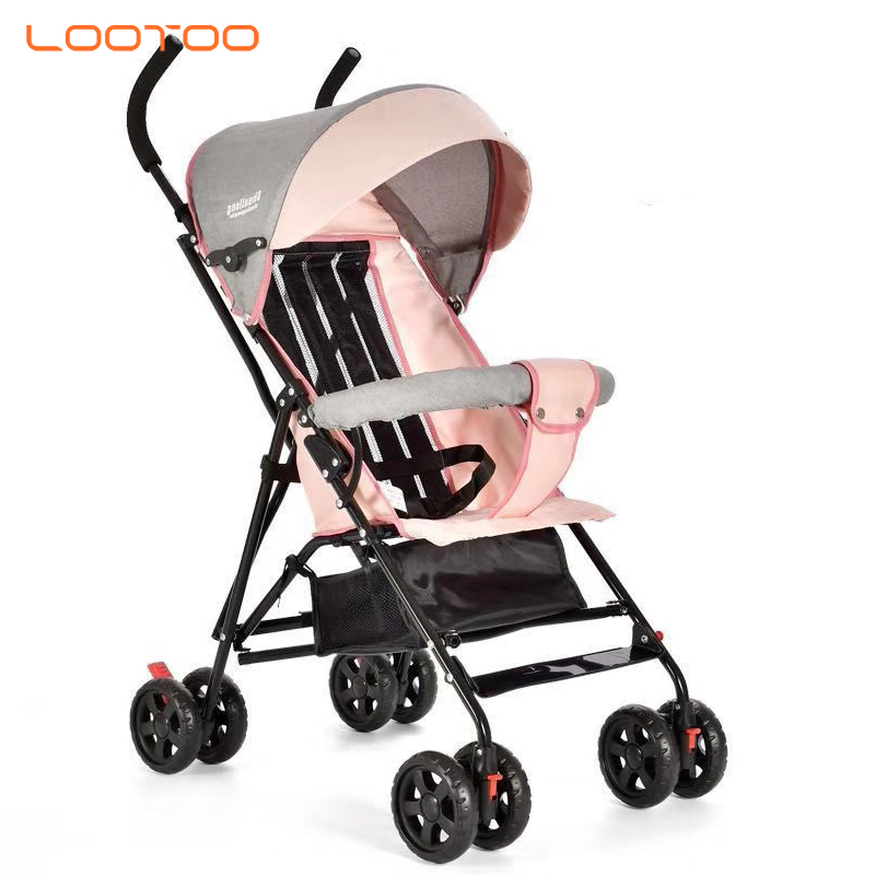 Cheap cost deals of black and pink 2 in one 6 month folding lightweight carrier basic baby stroller for canada