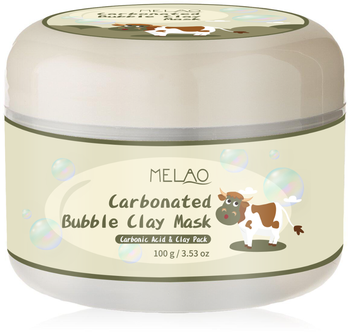 Melao Carbonated Bubble Clay Mask Bubbles Mud Mask Moisturize Deep Cleansing Face Mask 3.52 oz