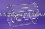 "16"" Raffle Drum Countertop Competition Barrel acrylic donation box"