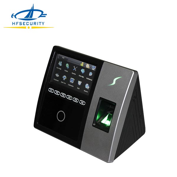 Integration of Facial Fingerprint and Password Identification Touch Screen Time Clock(HF-FR202)