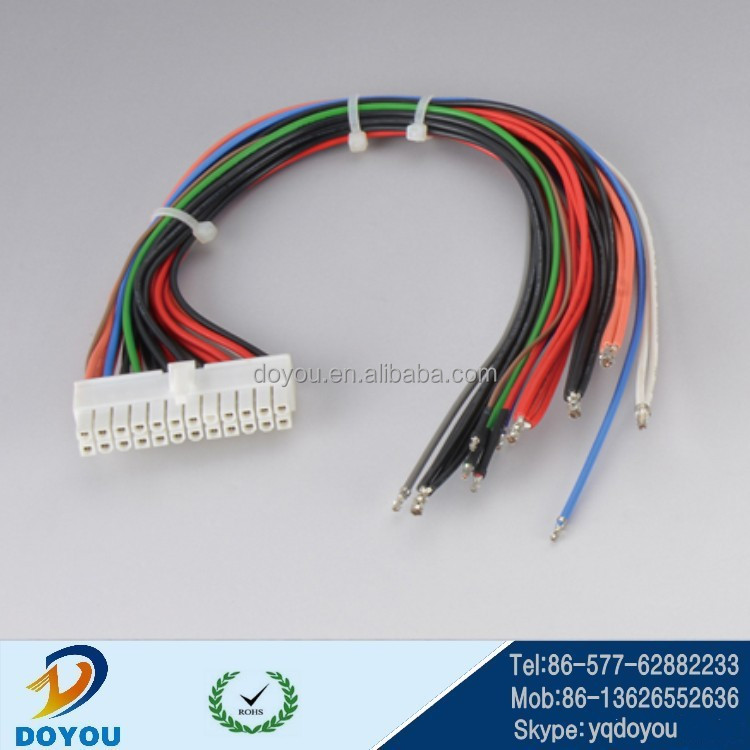 custom 4.2 pitch molex 24P engine wiring harness