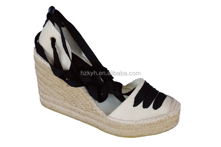 canvas ladies high heel shoes