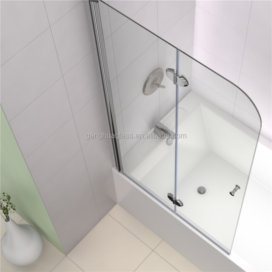 Bathroom Fold Tempered Glass Shower Door
