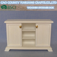 White Sideboard for 12 inch doll or Barbie Doll House Furniture