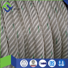 Custom Splicing Six Strand Double Braid nylon rope 88mm For Sale
