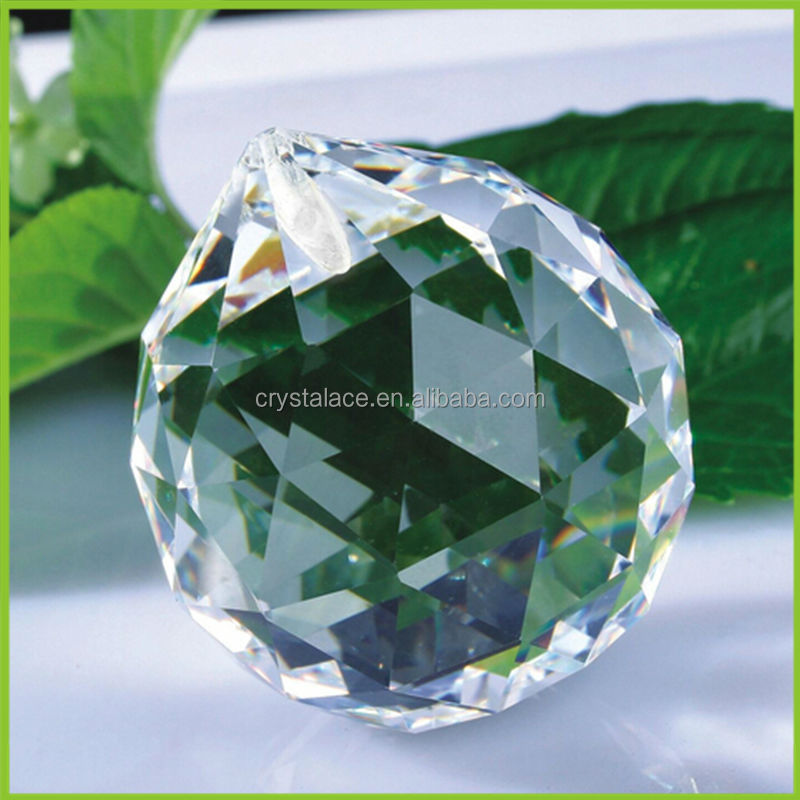 Crystal prism glass balls faceted 30mm-50mm