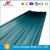 manufacture 0.13-0.8mm red corrugated metal roofing sheet