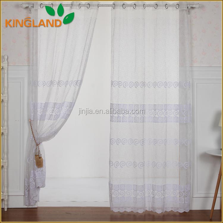 Alibaba wholesales new arrival fancy embroidery design crochet lace curtains