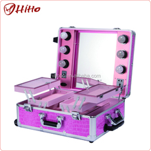 Personalized Professional Lighted Rolling Makeup Case With Wheels