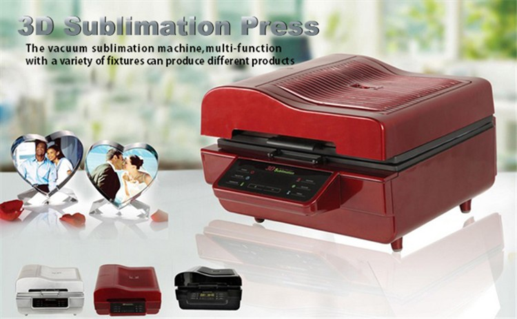 3D Sublimation Heat Press Machine for Phone Cases Mugs Cups Heat Transfer Printing