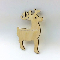 wooden animal shape for Christmas Decorations