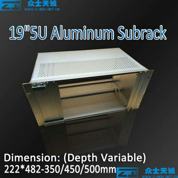 5u/211*482*350/400/450/500mm 19 inch standard aluminum network server subrack