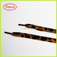 Wholesale shoelace packaging leopard printed shoe lace