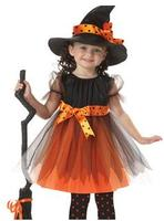 America Classical Witch Costumes Cosplay For Girl
