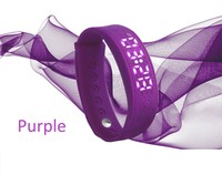 H5S purple heart rate monitor wristband pedometer fitness monitoring watch