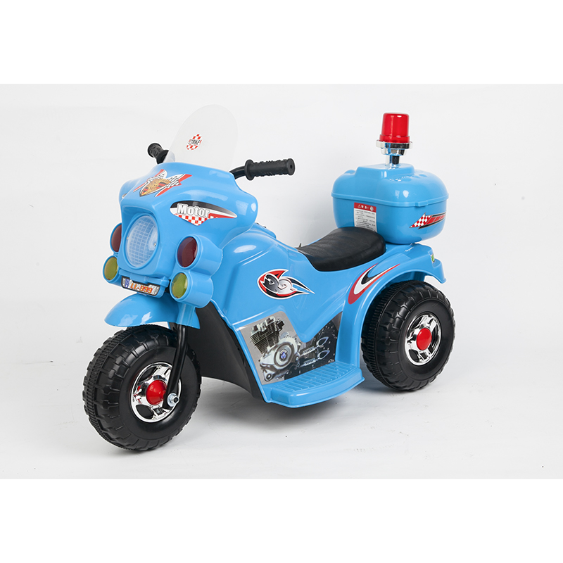 Children 3 wheel toys car Kids electric motorcycle ride on police motorcycle