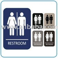 Eaglestone Products 1512 Unisex Restroom Sign