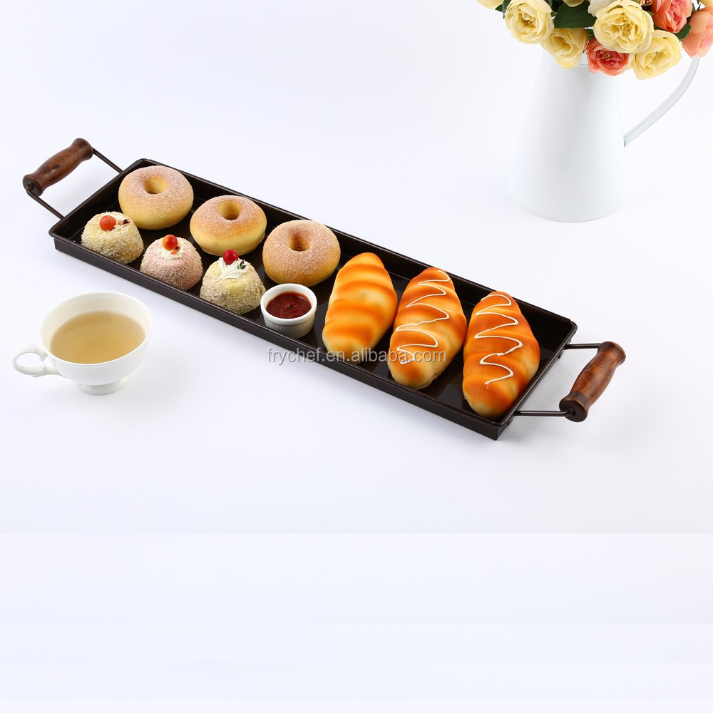 Food Serving Carrying Tray with Handles Cafe Lounge Bar Design
