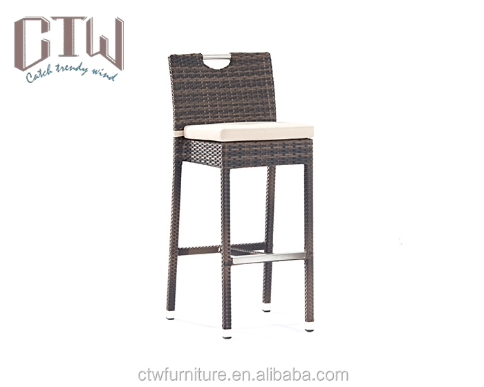 Best selling outdoor bar table and chair with rattan woven