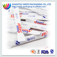 food grade paper sugar packaging/ pp woven sugar packaging/ plastic non woven sugar packaging