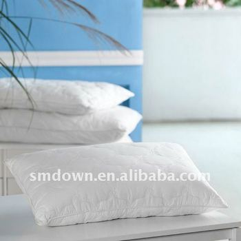 white comfortable airline or hotel bedding cushion/pillow/hospital pillow/nursing pillow/duck feather or down pillow