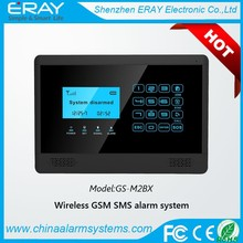 Touch keypad GSM home security burglar alarm system with big LCD display clock+wireless siren+motion sensor
