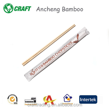 Color printing wrapper dispsoable sushi fork bamboo twin chopsticks