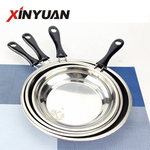 Enamel hot pot with India style restaurant hot pot/ stainless steel deep frying pan