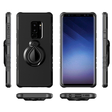 Shockproof TPU+PC Armor Magnetic Car Mount 360 Degree Rotatable Ring Holder Stand Back Cover Case For Samsung Galaxy S9 Plus