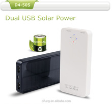 5000mAh Fast Charging Solar Power Bank Charger with Dual USB Ports