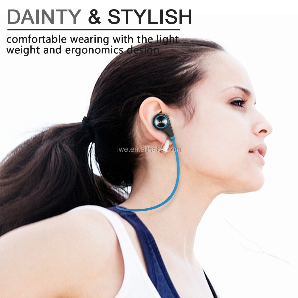 hot selling v4.1 CSR sport headphone high quality in ear phone sport bluetooth headset 2016for iphone have many colors