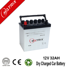 JIS 12v 32ah 36B20 NS40 dry charged battery for African Market