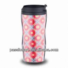 16oz double wall insulated plastic coffee Travel mug with paper insert
