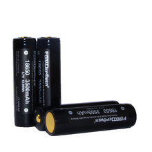 Foradepower 3.7V 18650 3500mAh High Quality PROTECTED Battery For Diving Flashlight with Storage Case